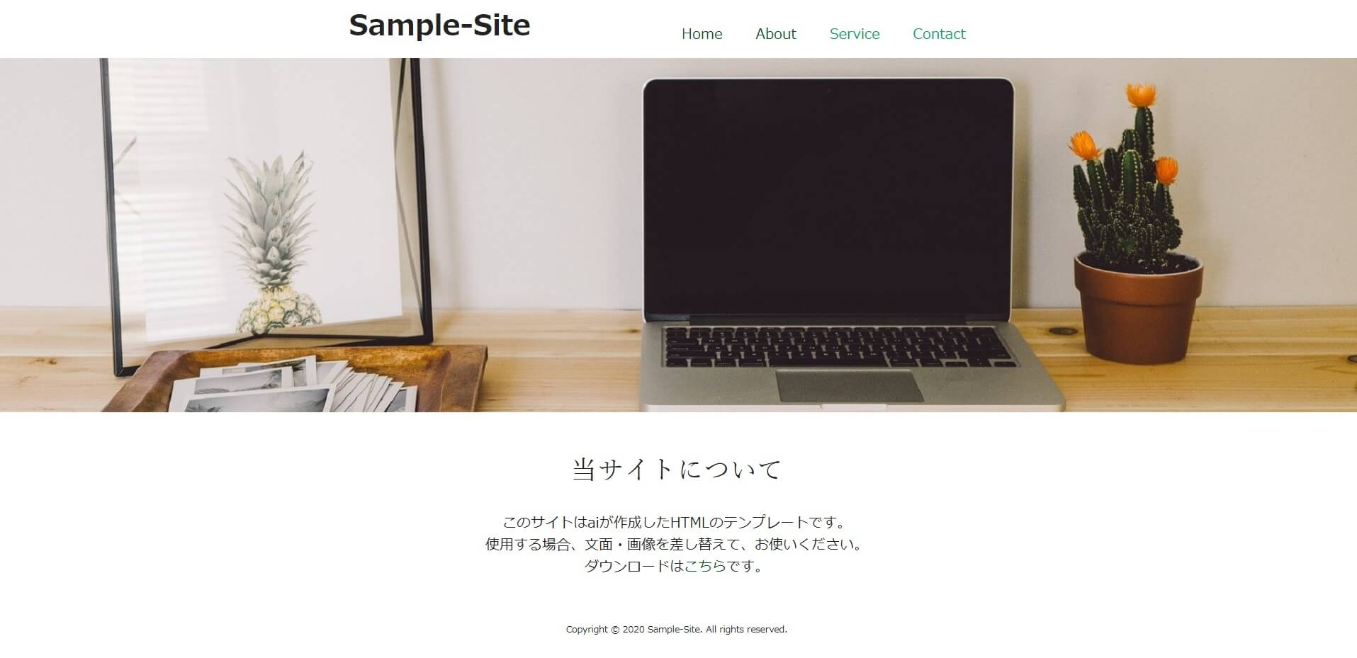 HTML Template4